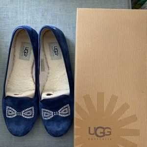 New with box size 8 blue Ugg flats